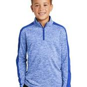 ® Youth PosiCharge ® Electric Heather Colorblock 1/4 Zip Pullover